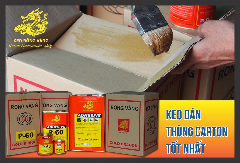 Keo dan thung carton